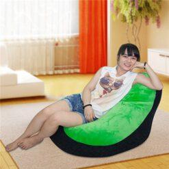 Ghế lười quả lê màu Xanh – Black GL029 (Chất liệu nhung lạnh Hàn Quốc) Size M