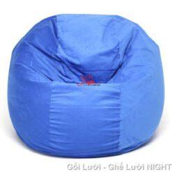 Ghế lười Trụ tròn (hình trứng) màu Xanh Dương GL053 Chất liệu Kate Phi Size M