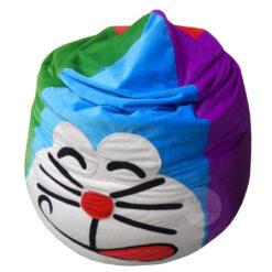 Gối lười hạt xốp giọt nước hoạt hình Doremon phối màu nhiều màu đẹp mắt (Chất liệu Nhung lạnh hàn quốc) Size M