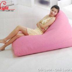 Gối lười Kim Tử Tháp màu Hồng cánh sen GL0103 (Chất liệu Kate phi mát lạnh) Size M