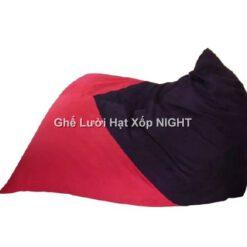 Gối lười Kim Tử Tháp phối màu Đỏ - Đen GL163 (Chất liệu Nhung lạnh hàn quốc) Size M