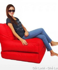 Gối lười hạt xốp Sofa kiêm giường GL088 (Chất liệu Kate Phi mát lạnh)