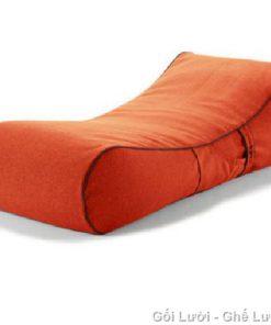 Gối lười hạt xốp kiểu giường lười GL119 Màu Cam (Nhung Lạnh Hàn Quốc)