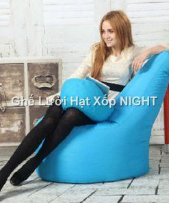 Ghế lười quả lê màu xanh ngọc GL179 size trung (Chất liệu Kate Phi) Size M