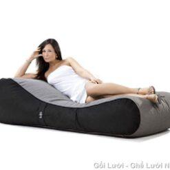 GL hạt xốp kiểu giường lười GL085 Màu Xám phối màu độc đáo (Nhung Lạnh Hàn Quốc)